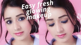 Easy Fresh Glowing Makeup|| Jazz Beauty World