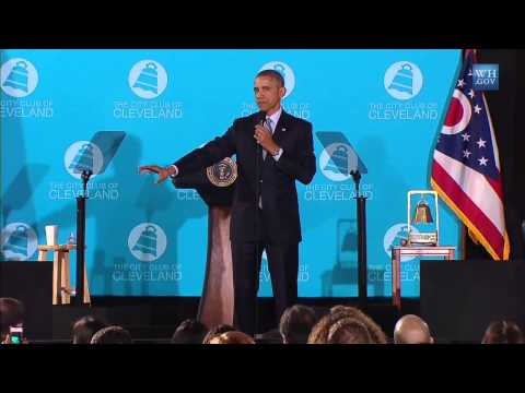 President Barack Obama Discusses Higher Education in City Club of Cleveland Speech