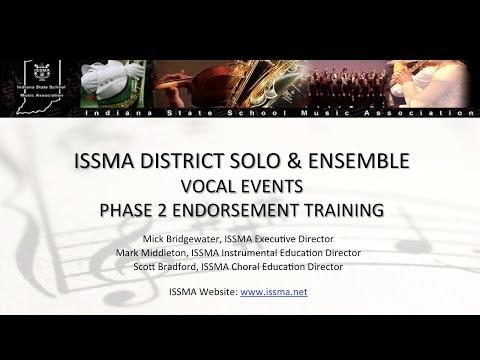 ISSMA Phase 2 Vocal Solo Ensemble Training