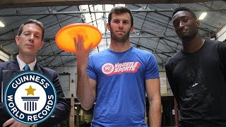 Brodie Smith & Marques Brownlee: Most behind the back catches of a frisbee - Guinness World Records