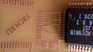 Изготовление печатных плат на 3D принтере, засветка фоторезиста