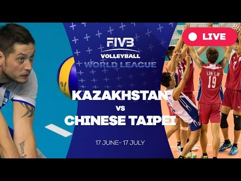 Kazakhstan v Chinese Taipei - Group 3: 2016 FIVB Volleyball World League