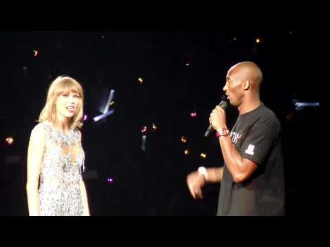 Kobe Bryant presents Taylor Swift with Banner Staples Center