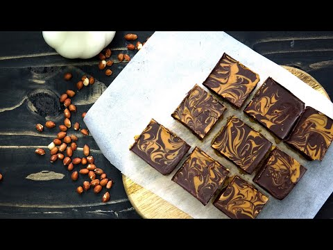 Easy Recipe Chocolate Peanut Butter Bars NO BAKES