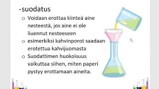 Kemia (7): Kappale 9: Erotusmenetelmät