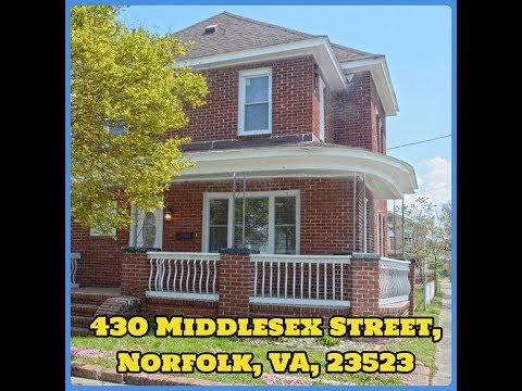 430 Middlesex Street, Norfolk, VA, 23523. VIDEO TOUR.