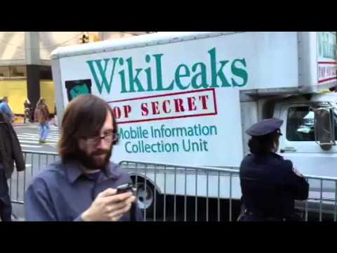 Wiki-Leaks truck towed by NYPD at ZuccottiPark