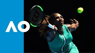 Serena Williams v Karolina Pliskova second set highlights (QF)   Australian Open 2019