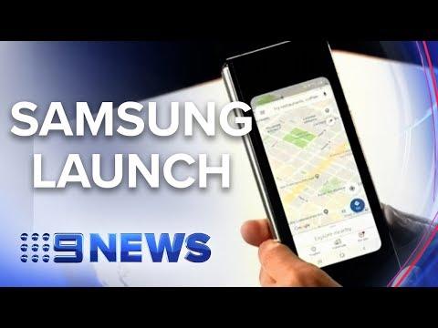 Samsung's new 'foldable' smart phone | Nine News Australia