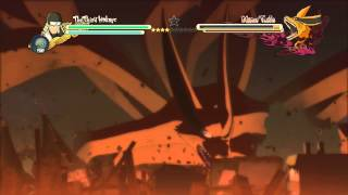 naruto shippuden ultimate ninja storm 3 demo leaf village vs 9 tails 4th hokage vs masked man