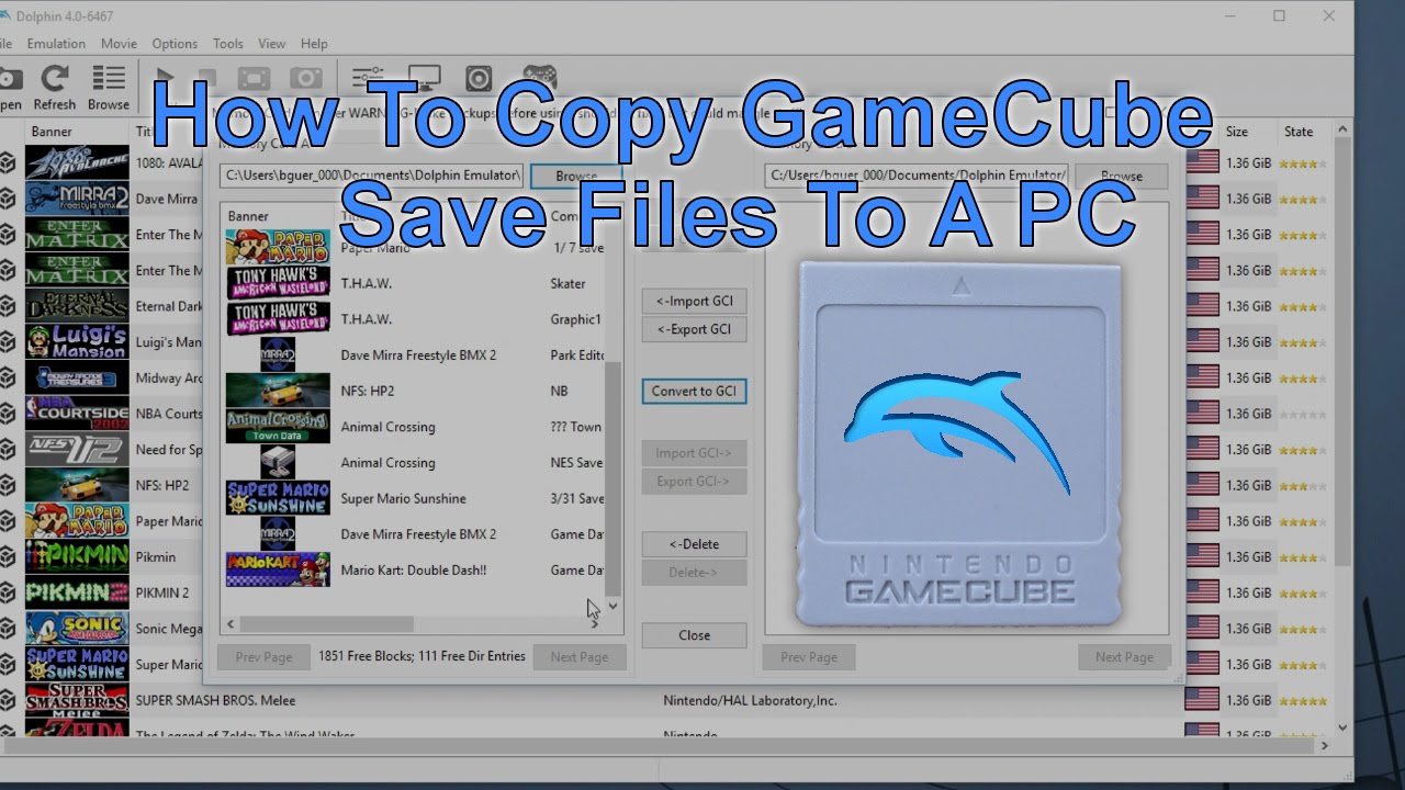 How To Copy GameCube Save Files A Computer