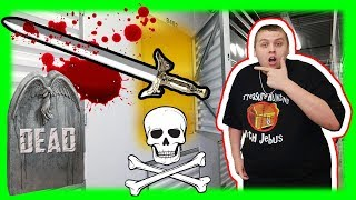 I Bought An Abandoned Storage Unit Found DEAD BODY and SWORD!