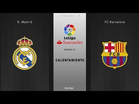 Calentamiento R. Madrid vs FC Barcelona
