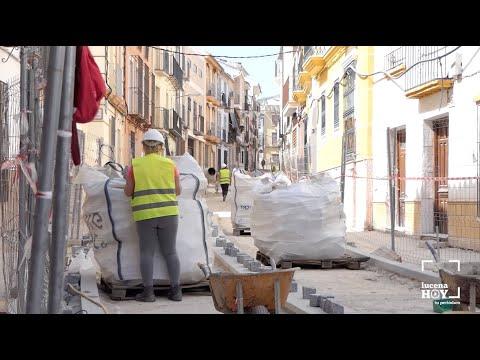 VÍDEO: Entran en su tramo final las obras de calle Álamos, que acumulan retraso por el estado de alarma.