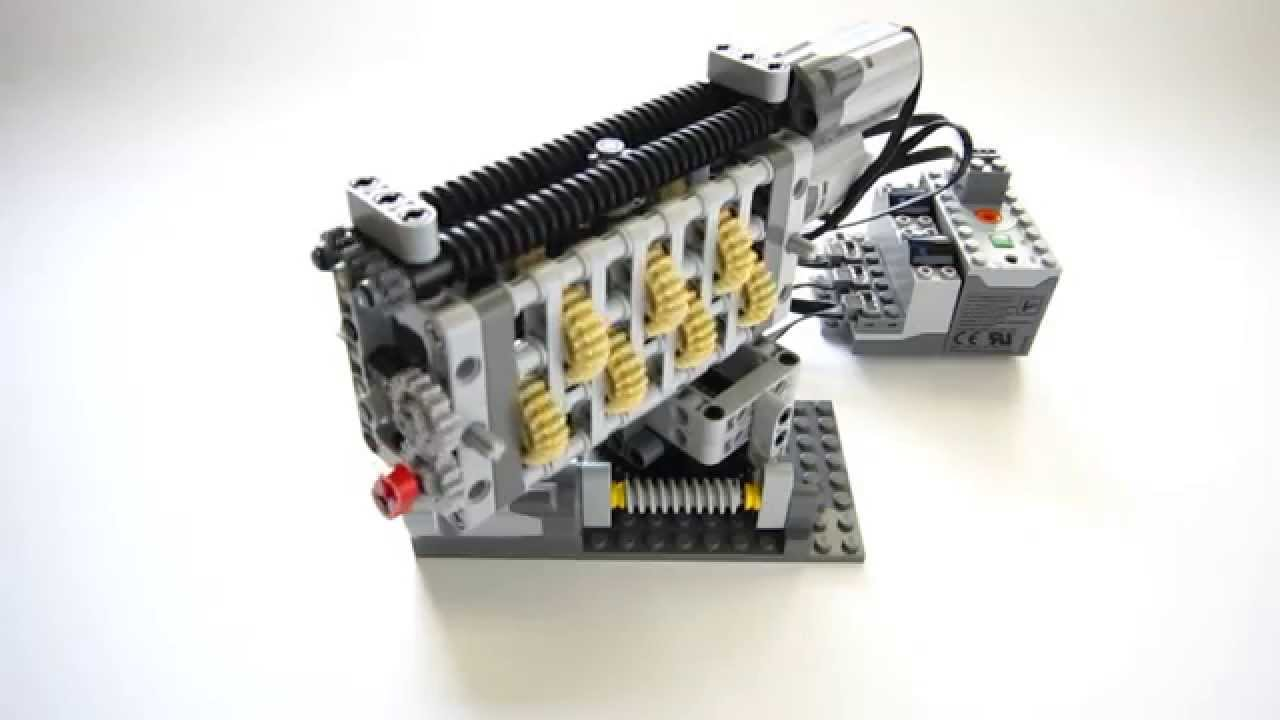 Lego Technic Smooth Linear Gearbox   6 Speed   Reverse   YouTube