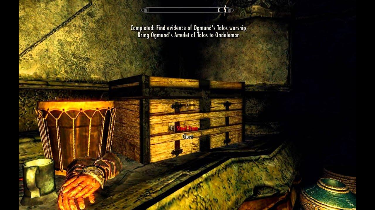 Amulet Of Talos find evidence of ogmund's talos worship - understone keep misc quest -  elder scrolls 5 skyrim