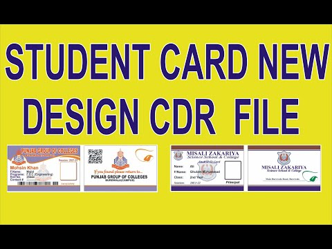 Student card new design 2021 |  CDR File