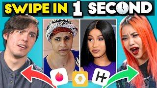Who Swiped Left On Cardi B? | Swipe In One Second