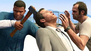 GTA V PC Franklin Kills Trevor And Michael (Editor Rockstar Movie Cinematic Short Film)