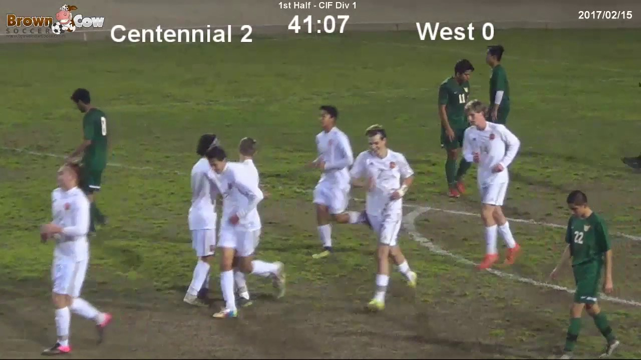 20170215 High School Varsity Boys Soccer Centennial V West High