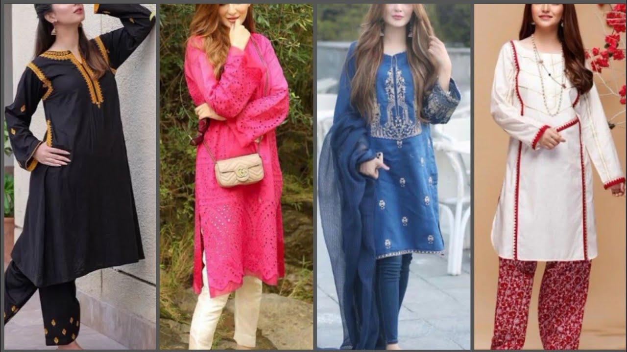 Daily wear salwar kameez designs 2021 | Pakistani casual salwar suit ideas  | Pakistani Fashion 2021 - YouTube