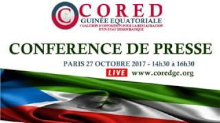 CONFERENCE DE PRESSE SUR VERDICT DU PROCÈS BIEN MAL ACQUIS FILS OBIANG- CORED GUINÉE ÉQUATORIALE