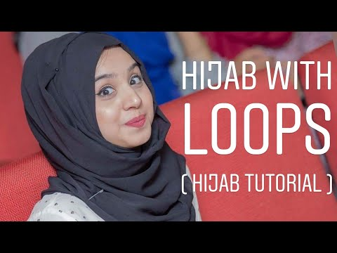 Hijab tutorial; how to wear hijab with loops thumbnail
