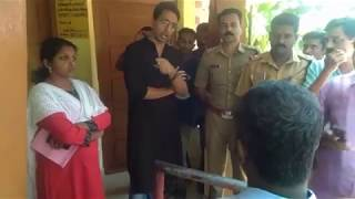 District collector angry reaction, kerala  (army men )