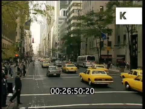 1980s, 1990s New York, Traffic, Yellow Taxi Cabs