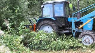 Работа шредера. Очистка леса.