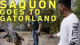 Saquon Barkley Faces His Fear of Gators!   Hey Rookie   NFL Rush