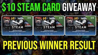 10 USD Steam Card Giveway Result + How to Claim the Prize for the Winner