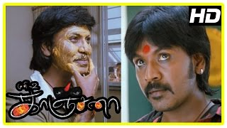 Kanchana Movie Horror Scene Ghost in Raghava attacks family