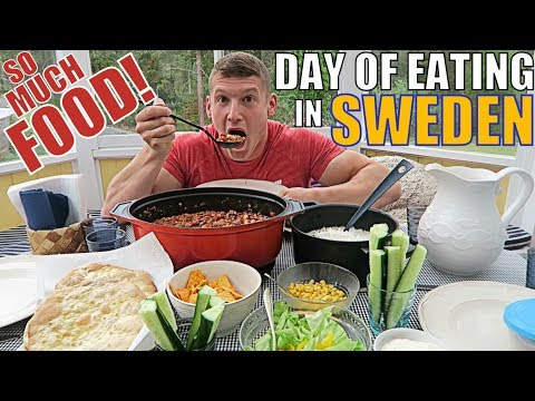 EATING BIG IN SWEDEN | Full Holi-Day of Eating | Stockholm
