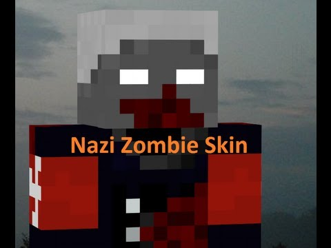 MinecraftMaking A Nazi Zombie Skin YouTube - Skins para minecraft pe hitler
