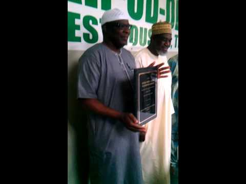 Ansar-ud-Deen SW Houston Award Presentation to National Secretary Alh Lateef Karim Pt 2