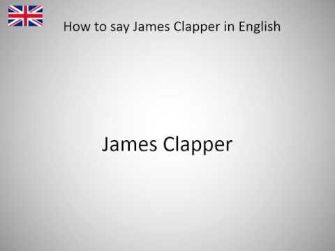 How to say James Clapper in English?