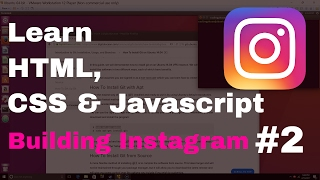 Learn HTML CSS and Javascript By Building Instagram #2 - Setting Up git and Files
