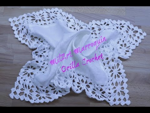 Orilla Crochet con 4 esquinas