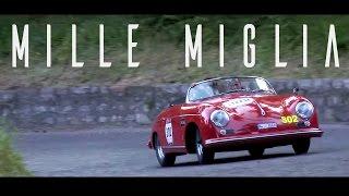 PORSCHE 356 SPEEDSTER drive at the Mille Miglia - Engine sounds | SCC TV