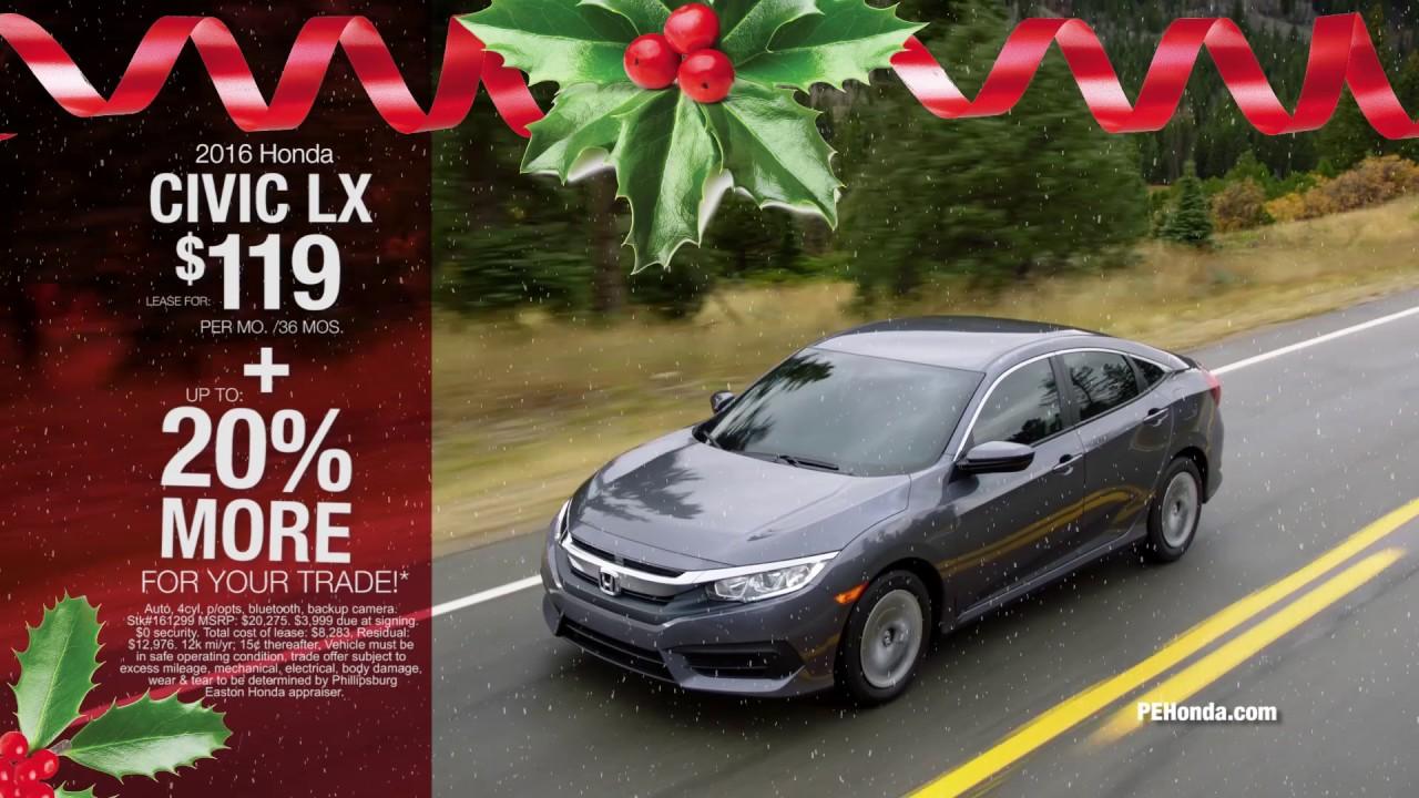 Phillipsburg Easton Honda December 2016 - YouTube