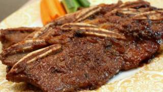 Korean Food: Grilled Beef Ribs ( 소 갈비=so Galbi )