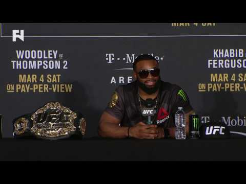 UFC 209: Tyron Woodley Post-Fight Press Conference