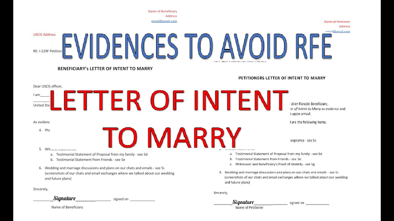 K40 Visa Letter of Intent to Marry + Evidences   YouTube