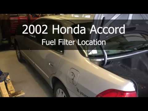 2002 honda accord fuel filter location youtube. Black Bedroom Furniture Sets. Home Design Ideas