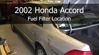 2002 Honda Accord Fuel Filter Location