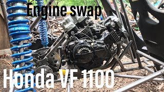 Honda VF 1100 buggy build part 9 new engine