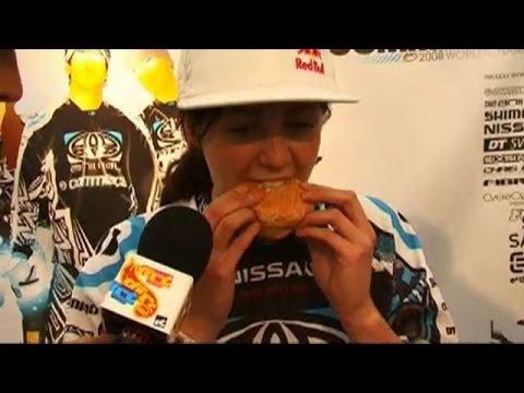 How to eat a doughnut with Rachel Atherton