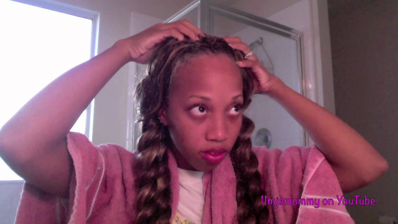 How To Wash Crochet Braids Youtube