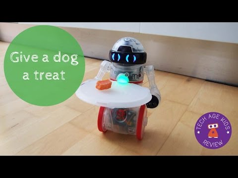 Give a dog a treat with WowWee Coder MiP